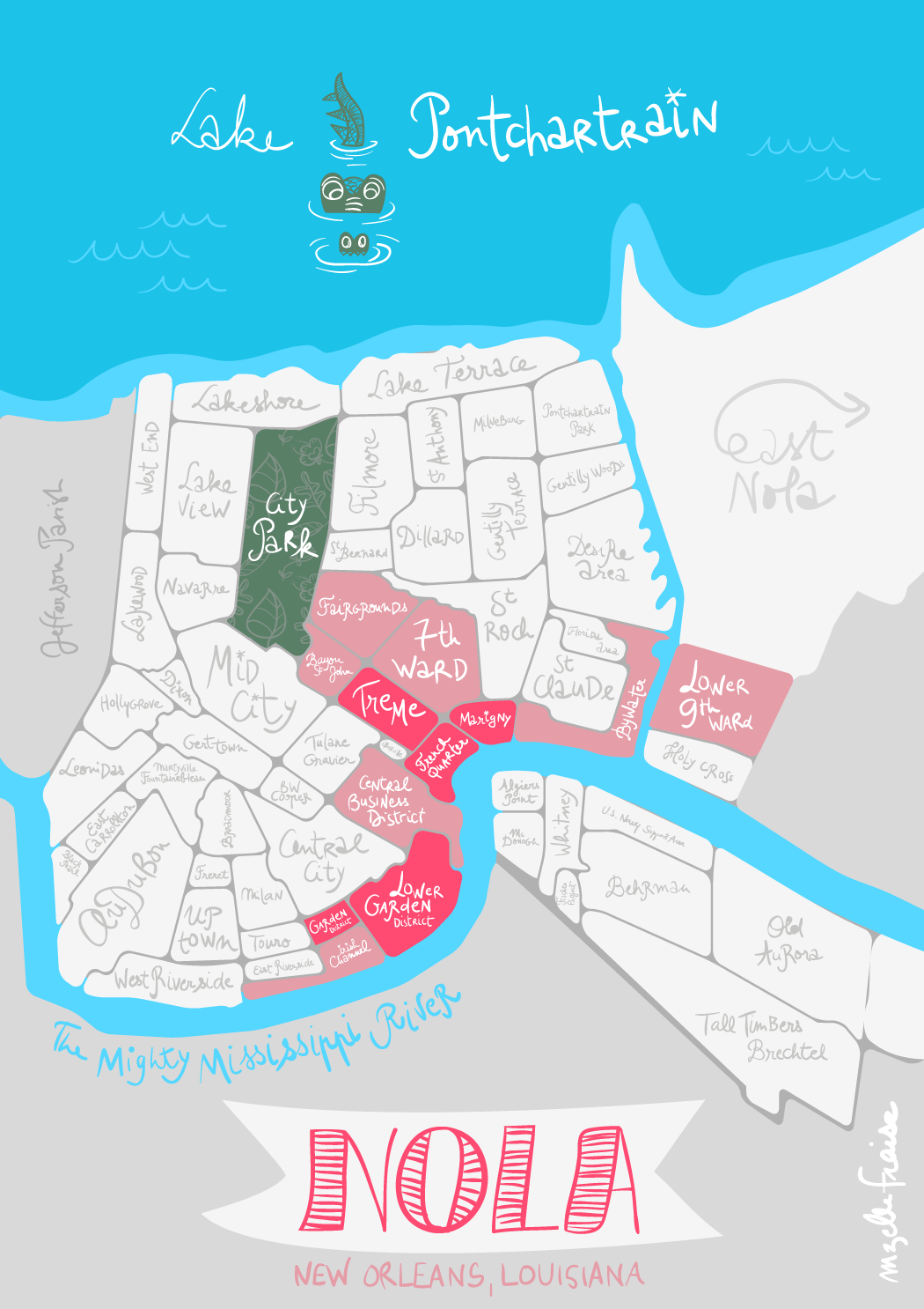 New Orleans, part 1. : Marigny | NOLA | New orleans map ... on florida map, shreveport louisiana map, norco louisiana map, los angeles california map, atlanta georgia map, grand isle louisiana map, san francisco california map, louisiana on us map, bossier city louisiana map, covington louisiana map, philadelphia map, baton rouge zip code map, alabama louisiana map, gettysburg pennsylvania map, america louisiana purchase map, natchez map, southern louisiana map, montgomery alabama map, orleans parish map, new louisiana profile map,