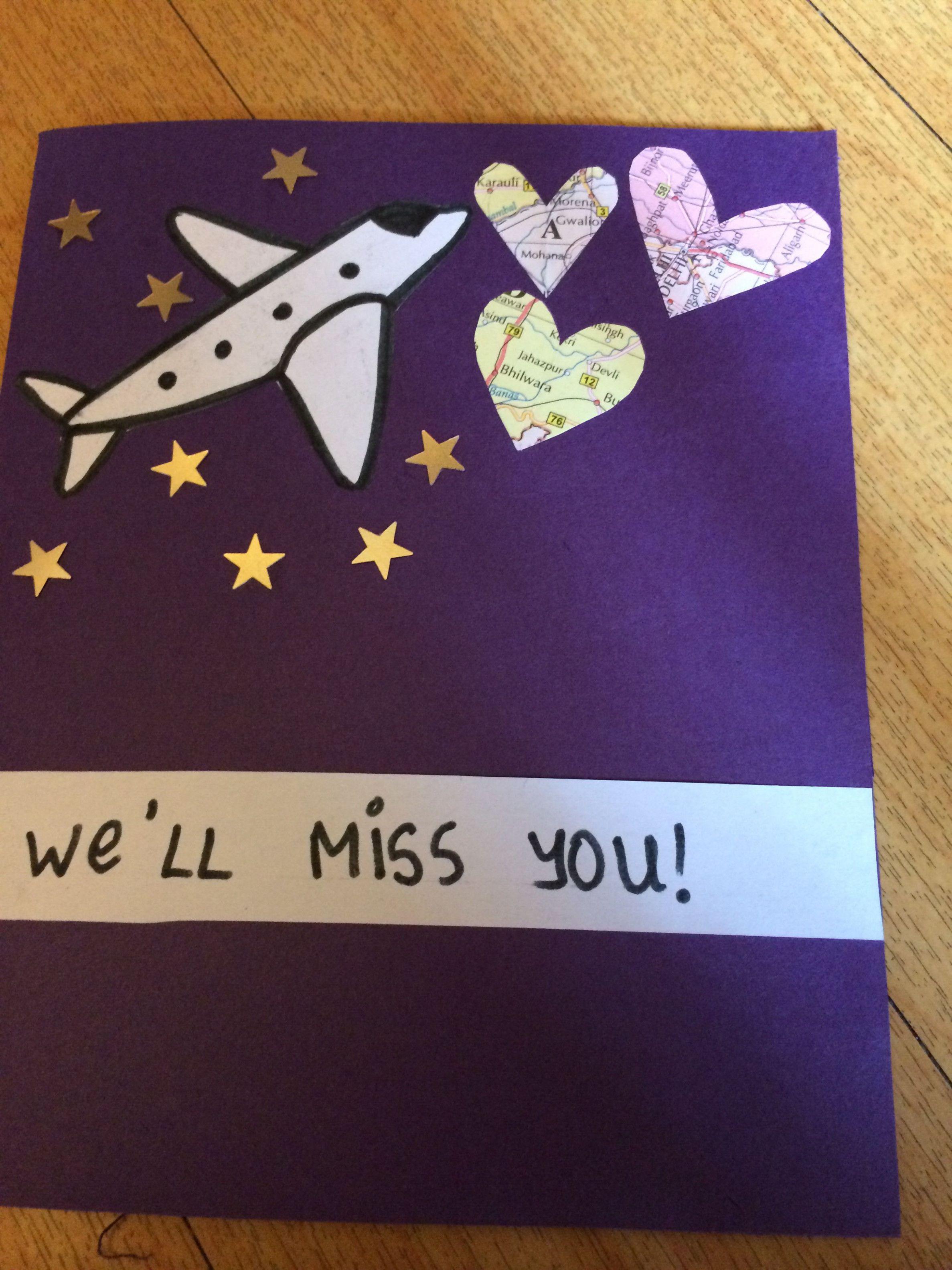 Farewell Card To Friend Beach Weddingdresses Com Farewell Cards Goodbye Cards Cards For Friends