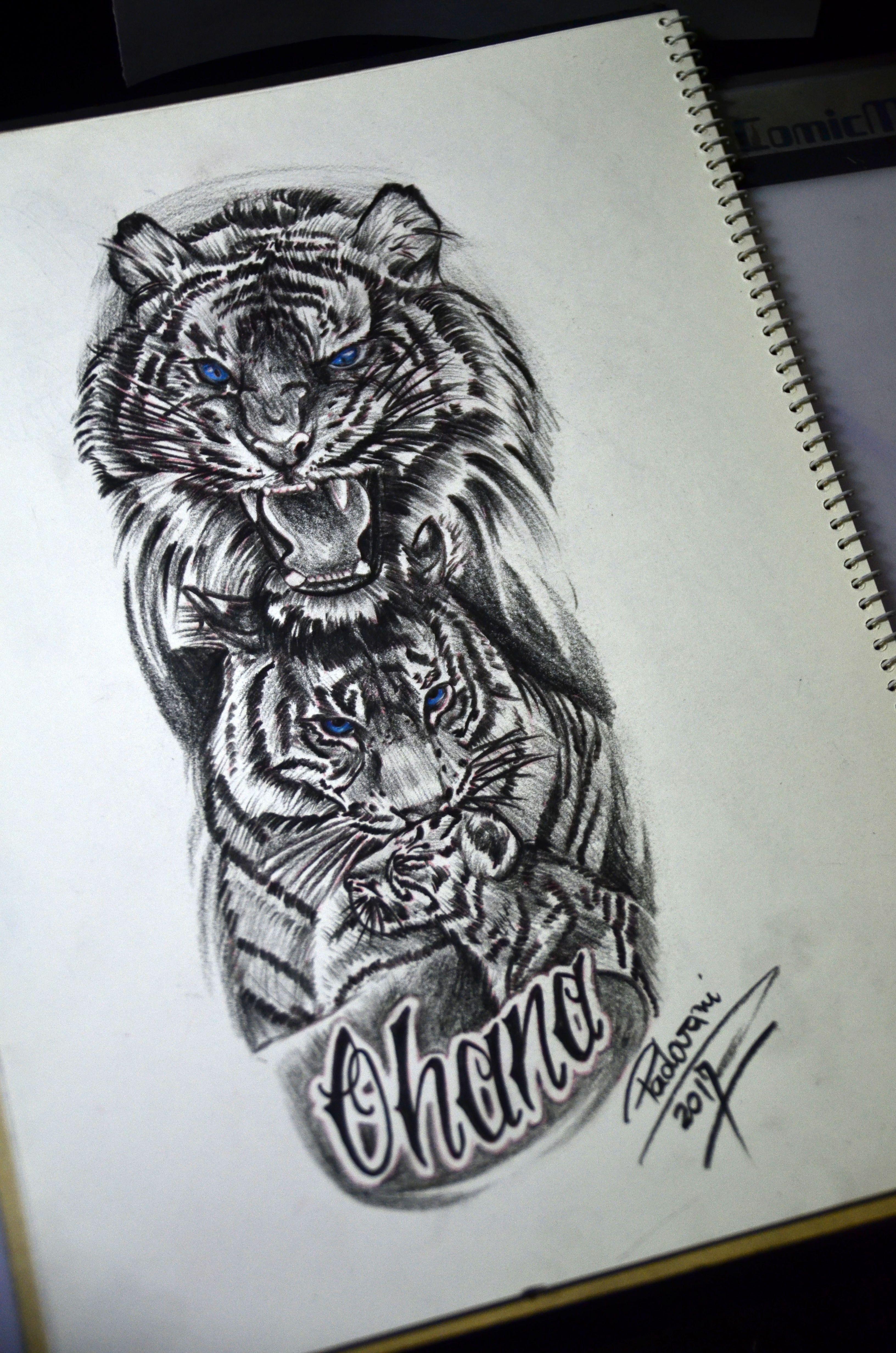 Family Tiger Tattoo Sketch By Thiago Padovani Tattoos To My Soul