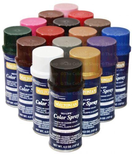 Meltonian Nu Life Brillo Color Spray Leather Vinyl Paint Dye 4 5 Oz All Colors