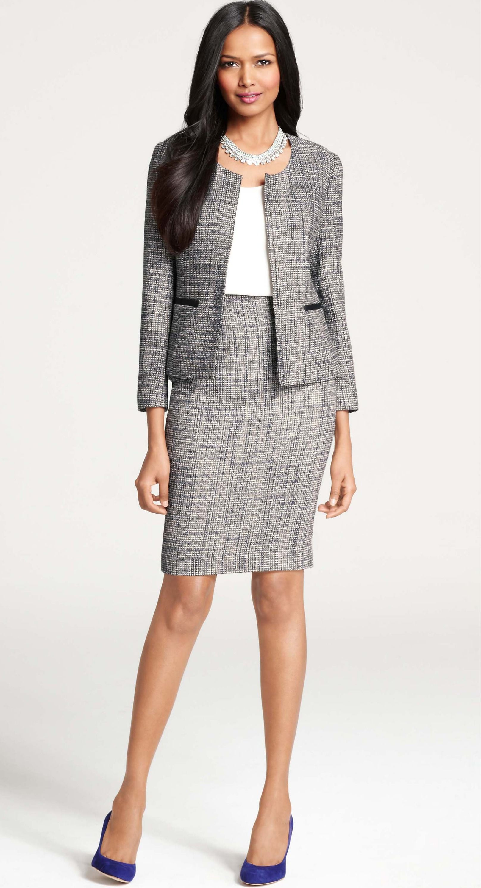 809220dca0 Ann Taylor - 293594WWB - Etienne Tweed Jacket. Ann Taylor - 293594WWB -  Etienne Tweed Jacket Business Attire