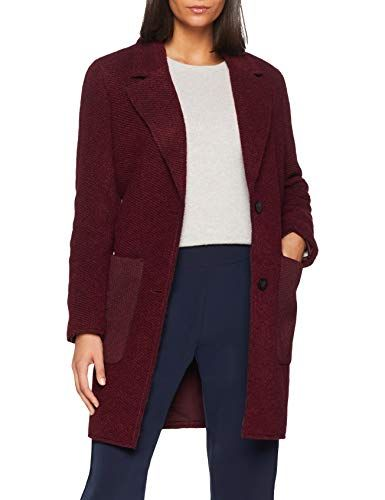 edc by Esprit 098cc1g014 Manteau Femme Rouge (Bordeaux Red 600) Large 5fc1253cbda6
