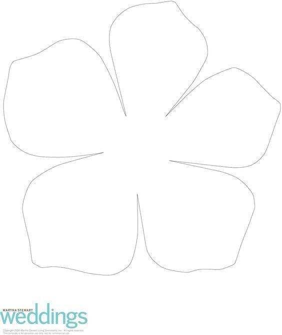 Загляните ко мне в перископ! Paper Flower Templates Pinterest - flower petal template