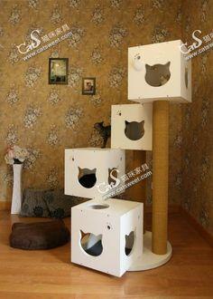 Diy Cat Furniture Cardboard B Diy Cat Tree B For About 120