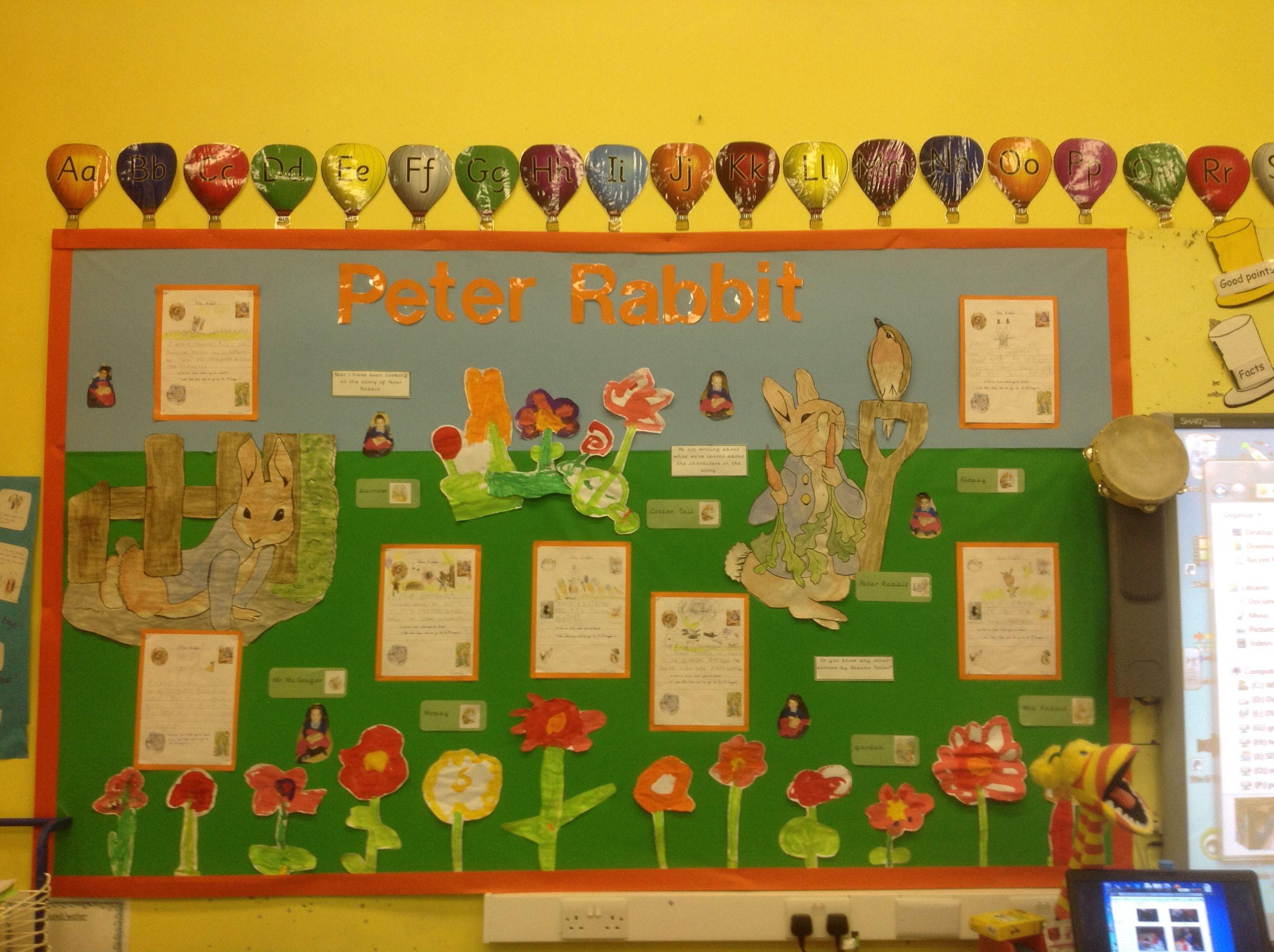 Display based on the Tale of Peter Rabbit   School   Pinterest ...
