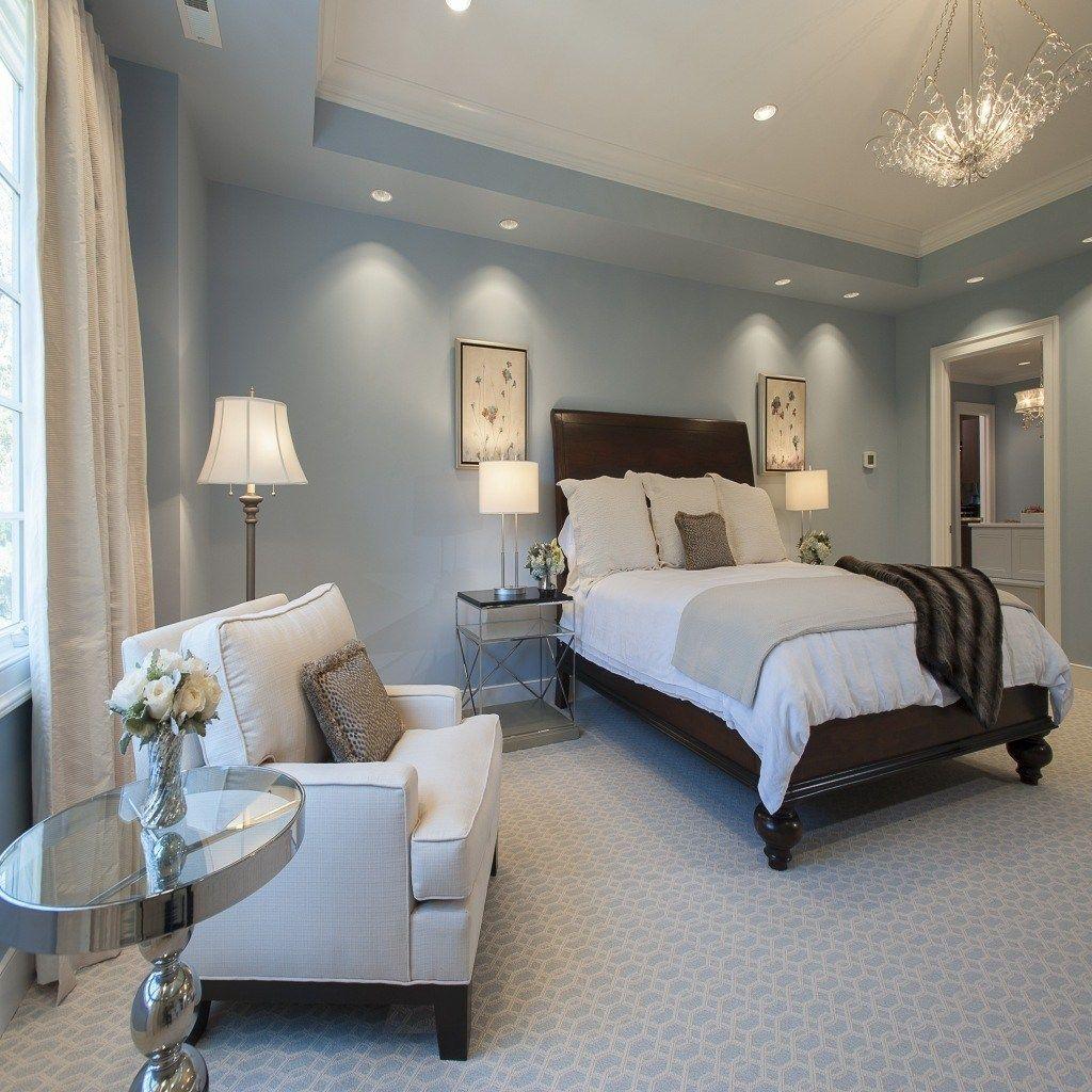 Image result for bedroom light blue walls | Blue master ...