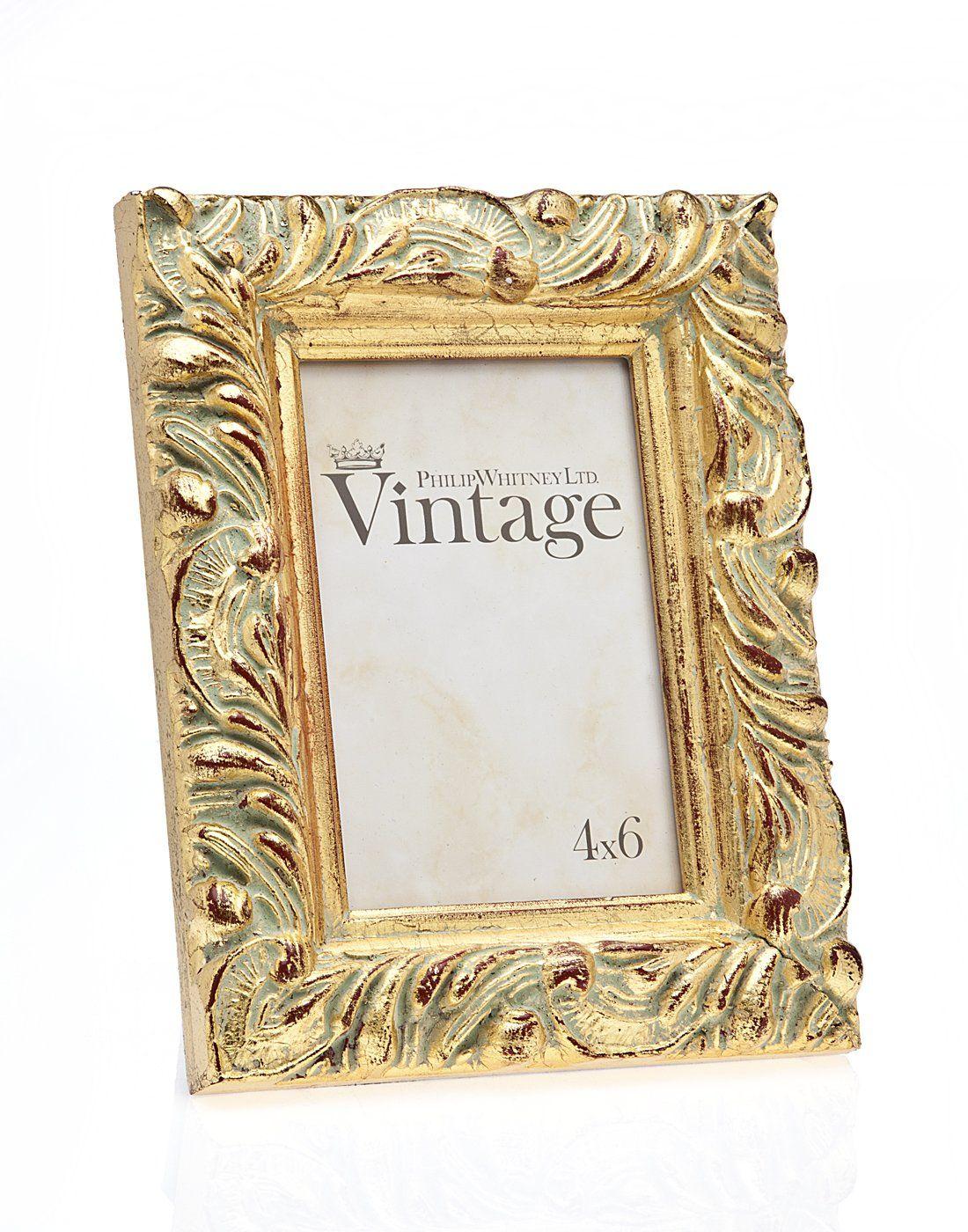 4x6 Vintage Gold Leaf Photo Picture Frame - Luxury Frames | Wedding ...