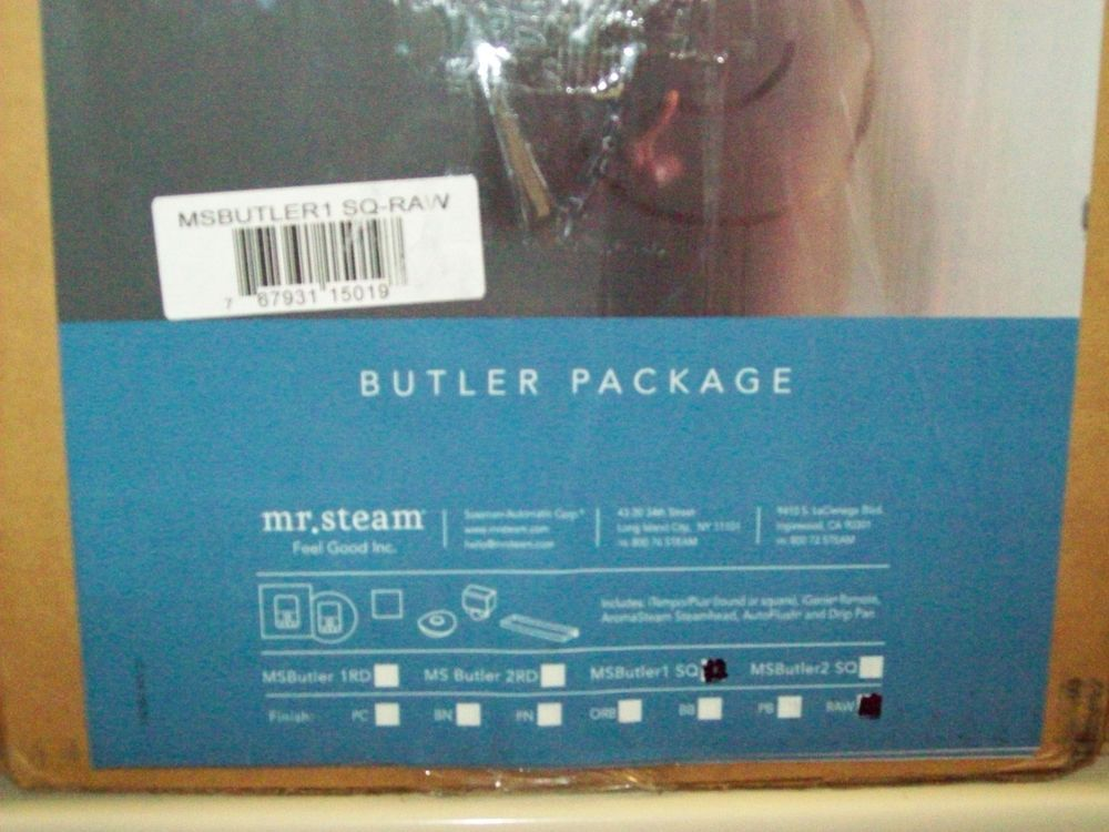 Mr. Steam MS Butler Package with iTempo Pro Square Programmable Control for Stea #MrSteam