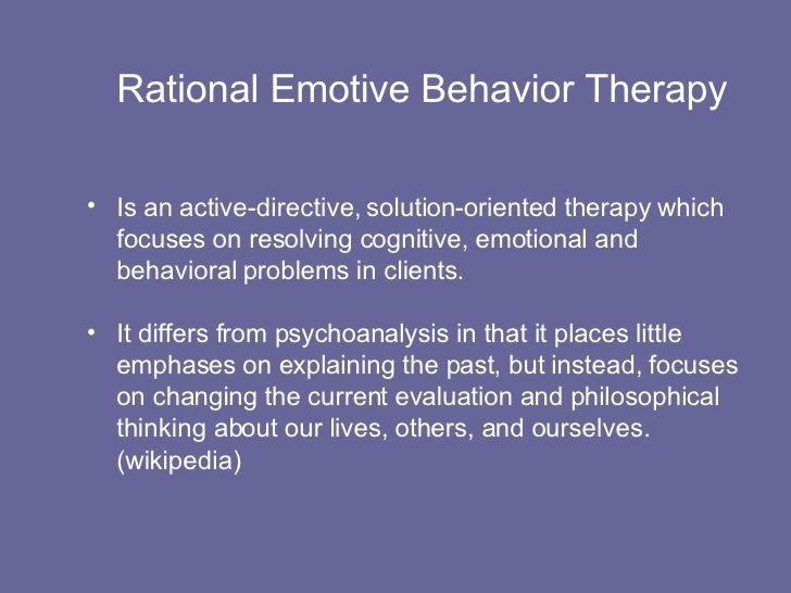 Rational Emotive Behavior Therapy Rational Emotive