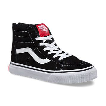 kids sk8 hi top scotch guarded leather fleece lined and ready for
