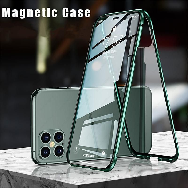 Case For Apple Iphone 12 Iphone 12 Mini Iphone 12 Pro Max Flip Magnetic Full Body Cases Solid Colored Tempered Gla Iphone Cheap Iphone Cases Iphone Cases