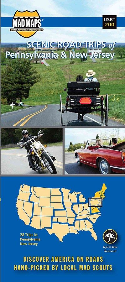 Pennsylvania & New Jersey Scenic Rides Map by MAD Maps