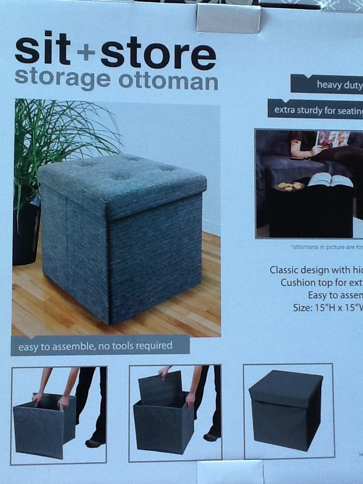 sit + store storage ottoman from Simple Concepts. Found it at Ross. Wool  felt - Sit + Store Storage Ottoman From Simple Concepts. Found It At Ross