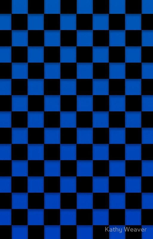 Blue And Black Checker Board Iphone Case Cover By Kathy Weaver In 2021 Cute Blue Wallpaper Checker Wallpaper Iphone Background Wallpaper