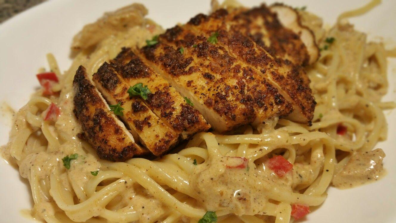 blackened chicken alfredo pasta recipe