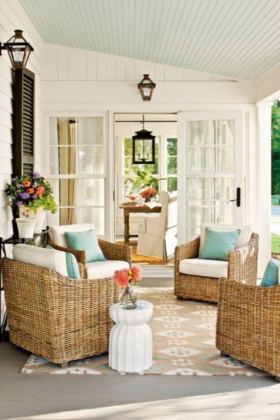 porch living: 36 joyful summer porch décor ideas. #southernliving