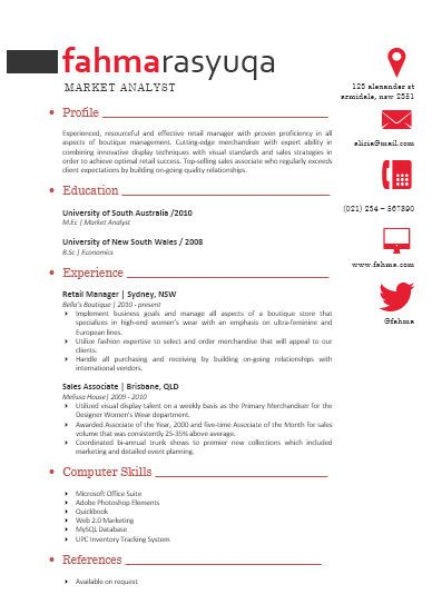 Modern Microsoft Word Resume Template Fahma Rasyuqa by INKPOWER - microsoft work resume template