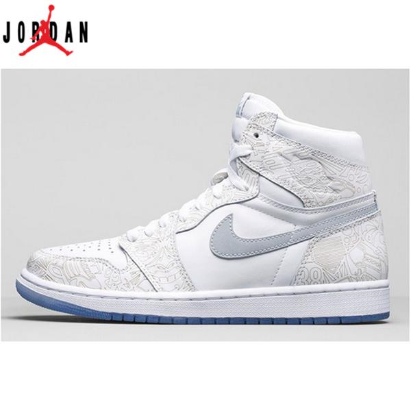 big sale 2969a 066c9 Air Jordan 1 Retro High OG Laser Men s Shoe White Grey,Jordan-Jordan