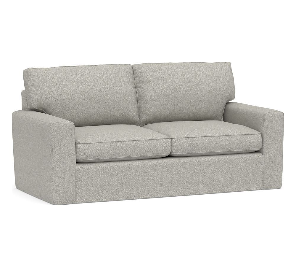 Pearce Square Arm Slipcovered Sleeper Sofa With Memory Foam