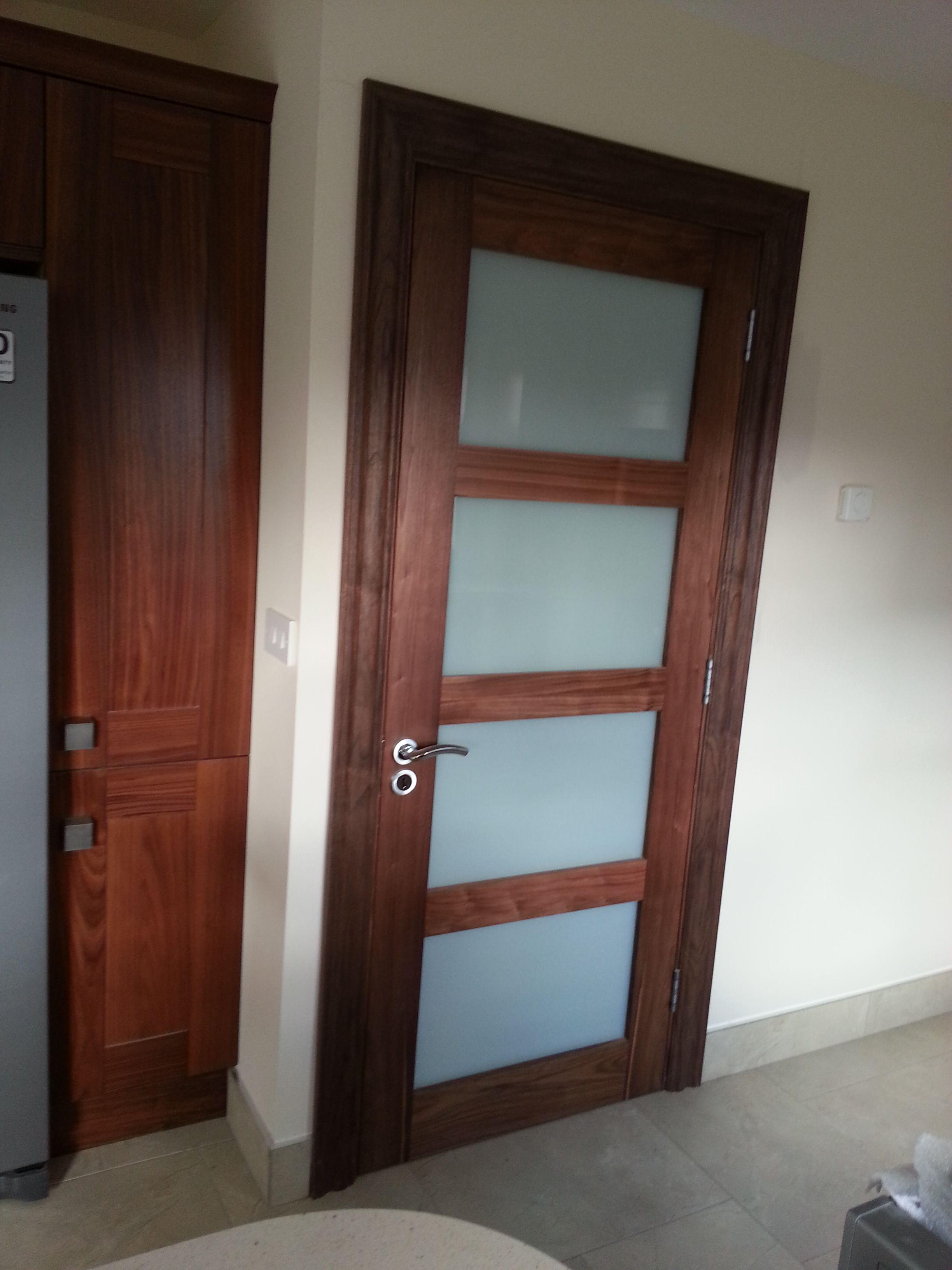 Walnut 4 Panel Frosted Glass By Www Murphylarkin Com Walnut Doors Internal Doors Home