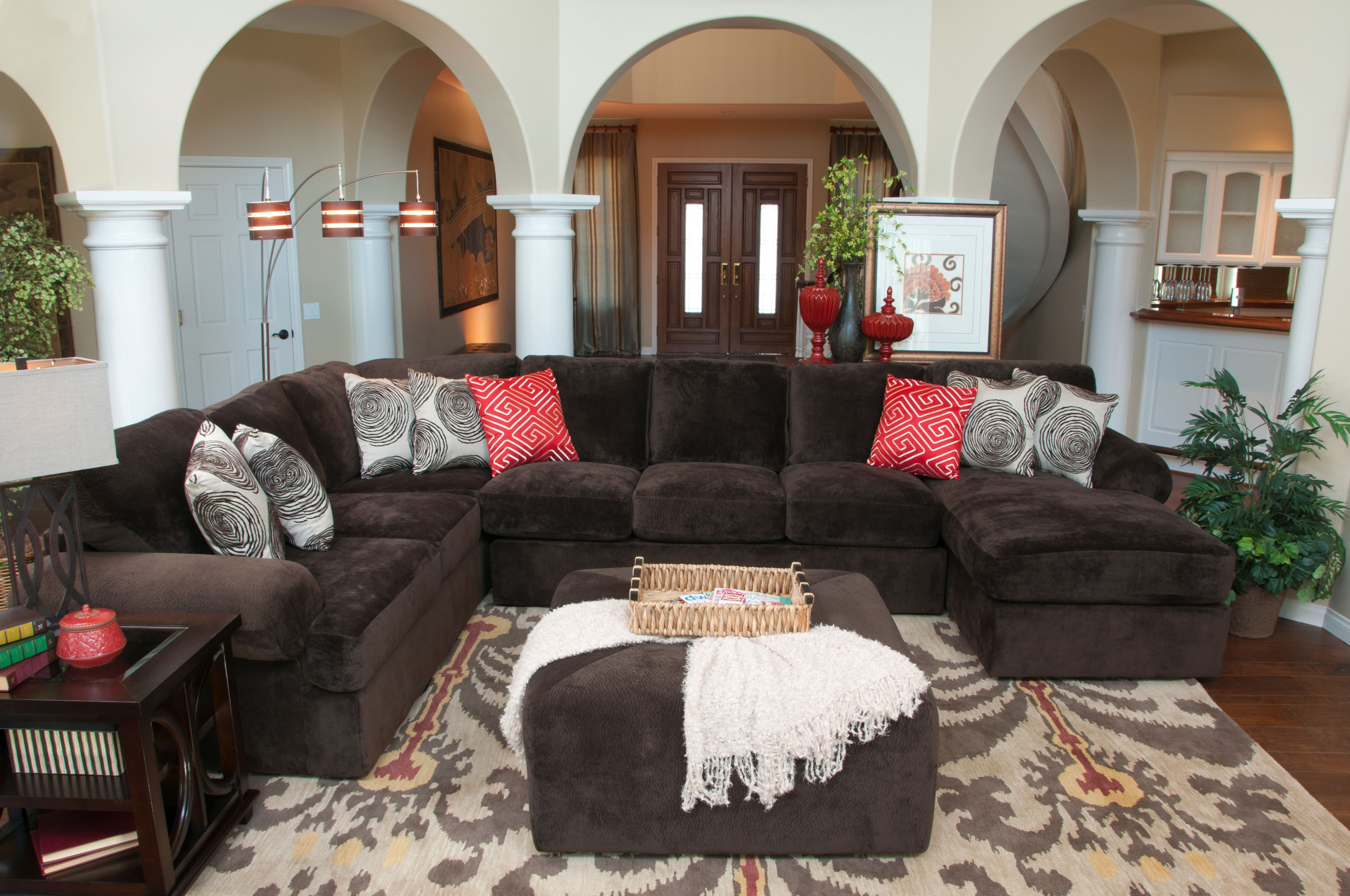 living room arrangements%0A Create the perfect seating arrangement for your living room  Our Bradley  sectional gives you options