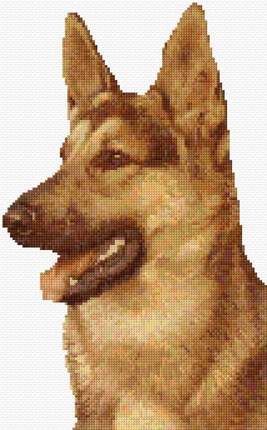 German shepherd | HAMA | Pinterest | Punto de cruz, Puntos y Cruz ...