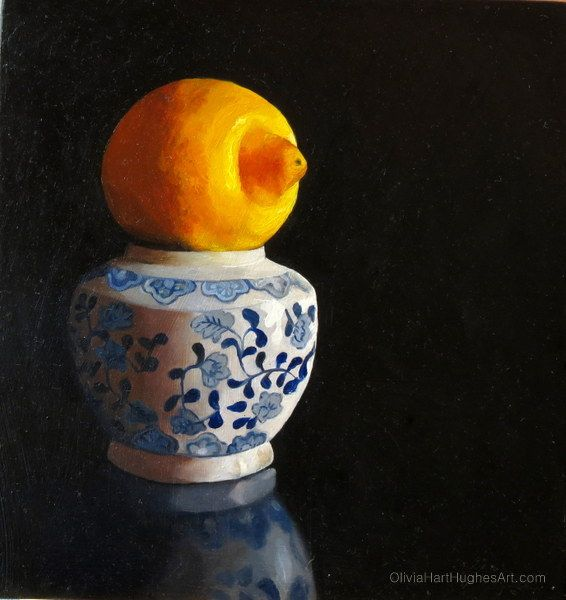 "Still life painting by Olivia Hart-Hughes called ""Sun Gazing"" - Oil on Board. ©Olivia Hart-Hughes Art 2014"