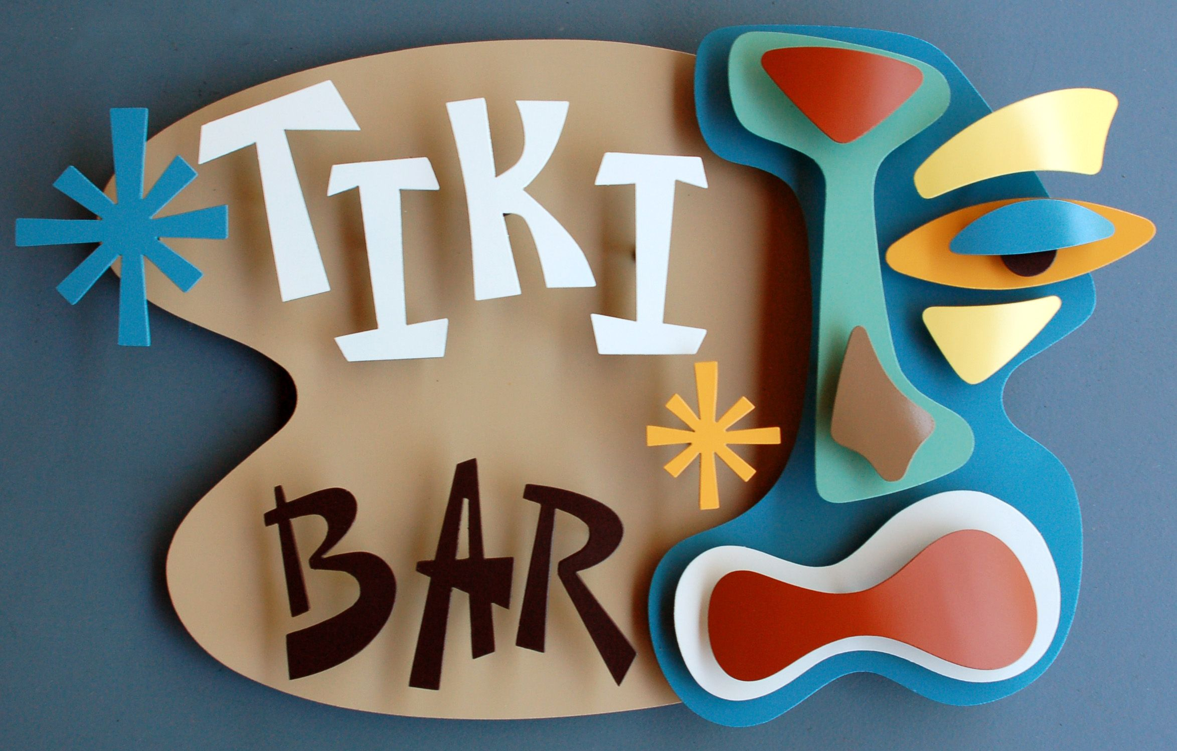 Tiki art -- LOVE this sign!