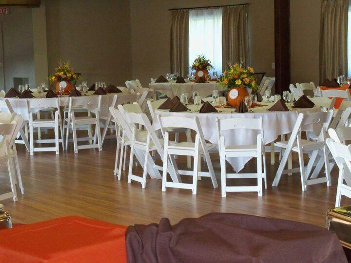 Flower n table number holders! Pumpkins just make sense!