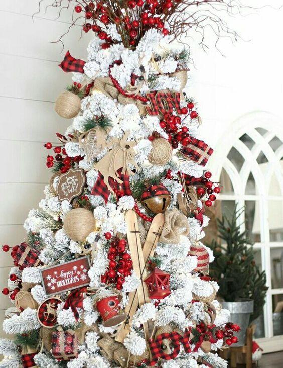 100 Festive Christmas Tree Ideas That Ll Make The Christmas Cheer Even More Vi Christmas Tree Themes Farmhouse Christmas Tree Christmas Decorations Rustic Tree