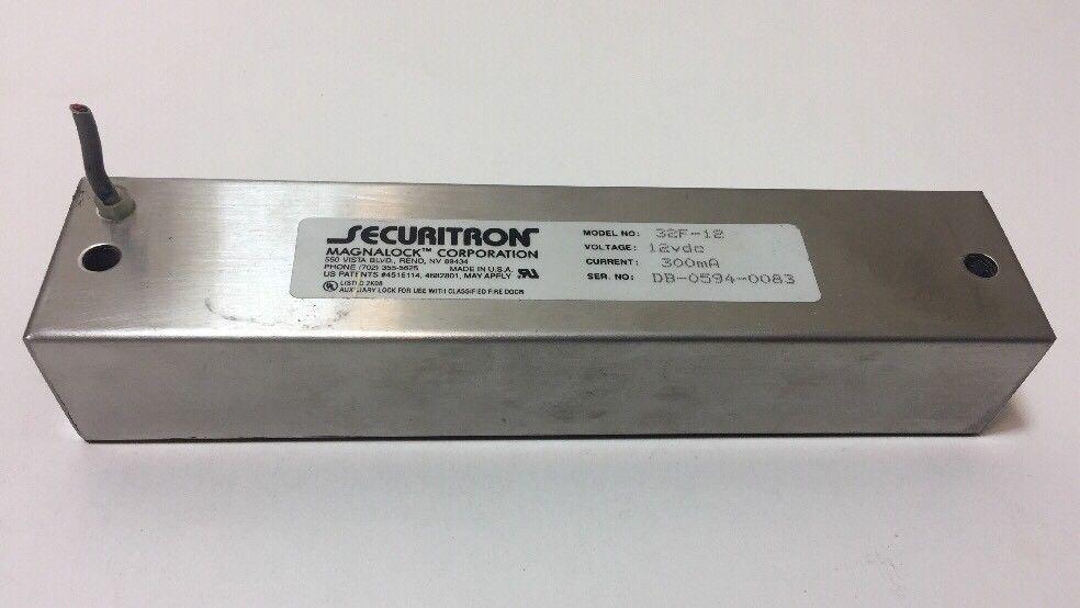 Securitron Magnalock M32 12 12vdc Magnalock Used Securitron Magnetic Lock Ebay Magnets
