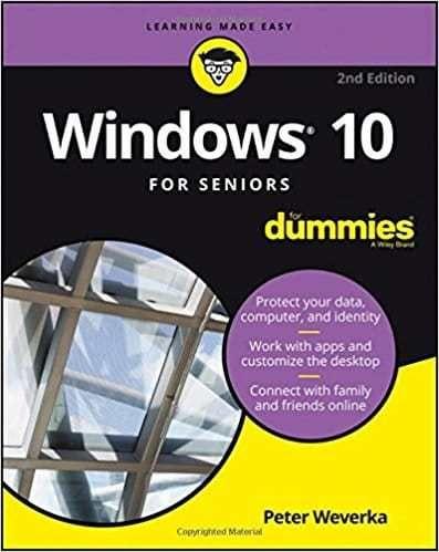 Windows 10 Seniors Dummies Free Download 2nd Edition Free Download