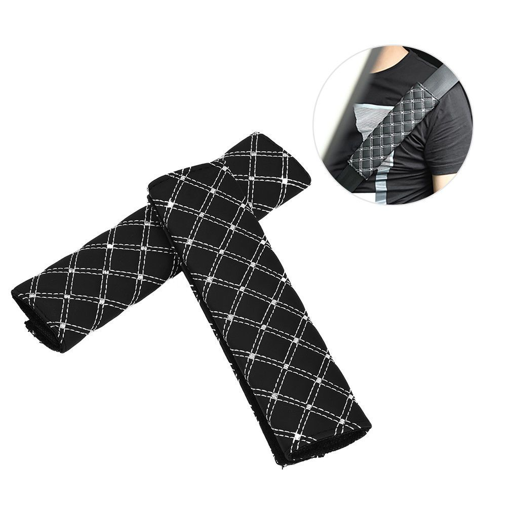 pcs car seat belt covers pu leather seat strap shoulder