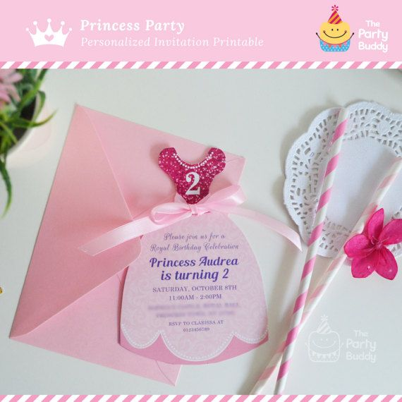 Princess Birthday Party Invitation Pink – Diy Princess Party Invitations