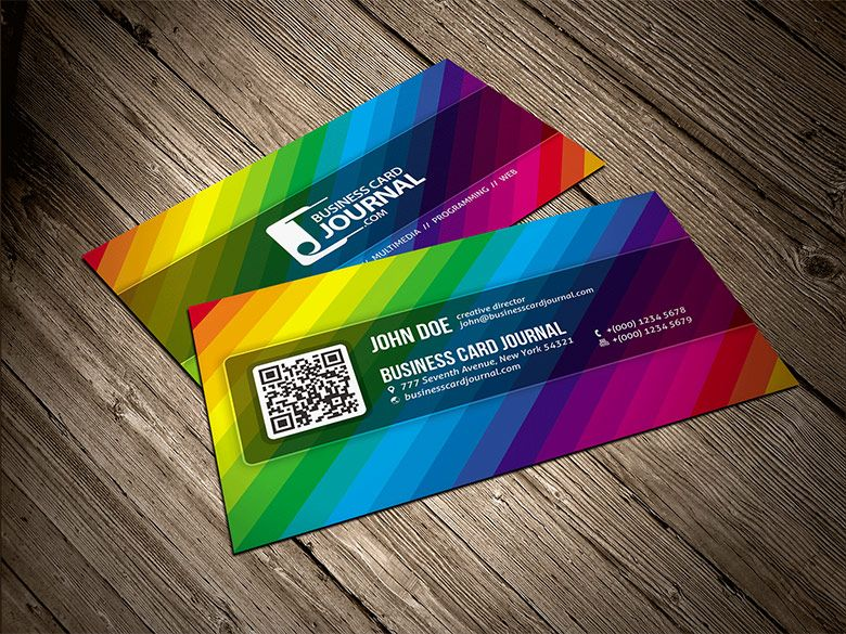 Pin By Vladimir Prochazka On Free Business Cards Free Business Card Templates Rainbow Business Card Business Cards Creative