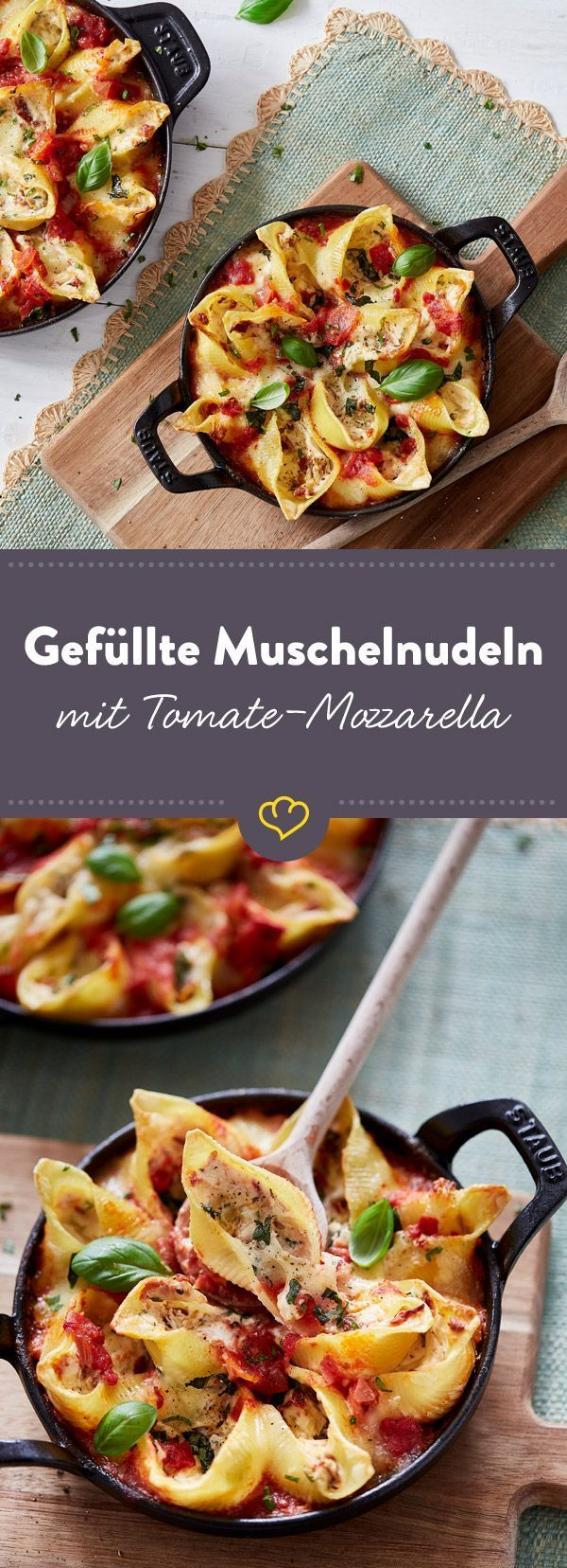 Photo of Baked mussel pasta with tomato and mozzarella filling