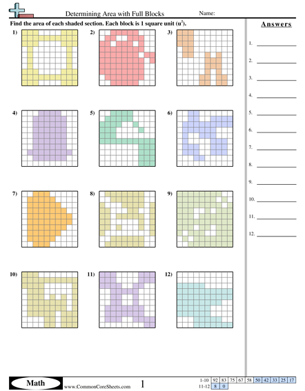 Lesson   Finding An Area Tiling In A Kitchen Worksheet