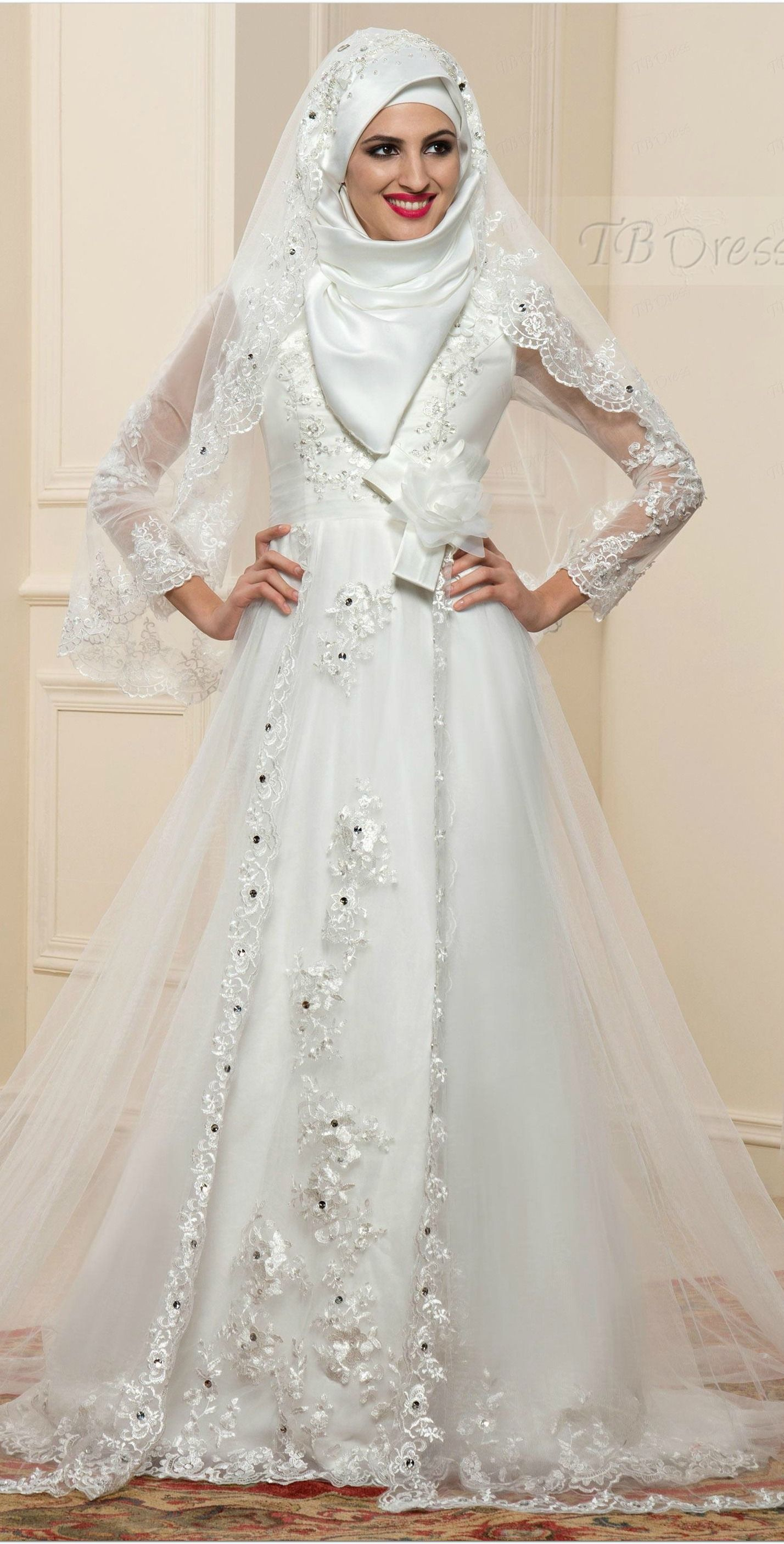 wedding dresses for muslim women pictures