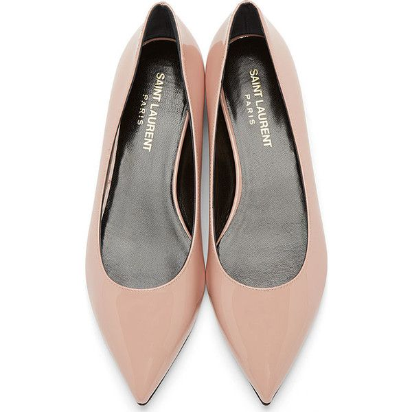 discount affordable Saint Laurent Patent Leather Pointed-Toe Flats sale genuine 57UsJ