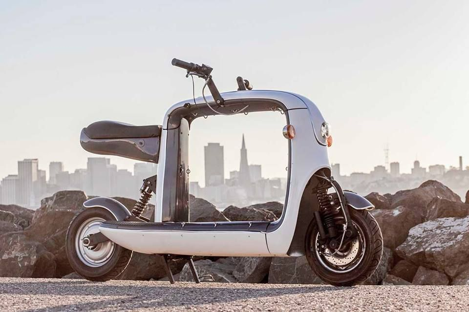 Kubo Electric Two Wheeled Pickup Scooter - Quirky Cars