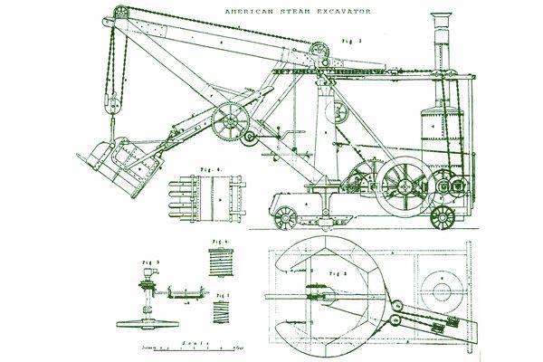 The First Steam Shovel   Historical Equipment   Old farm equipment