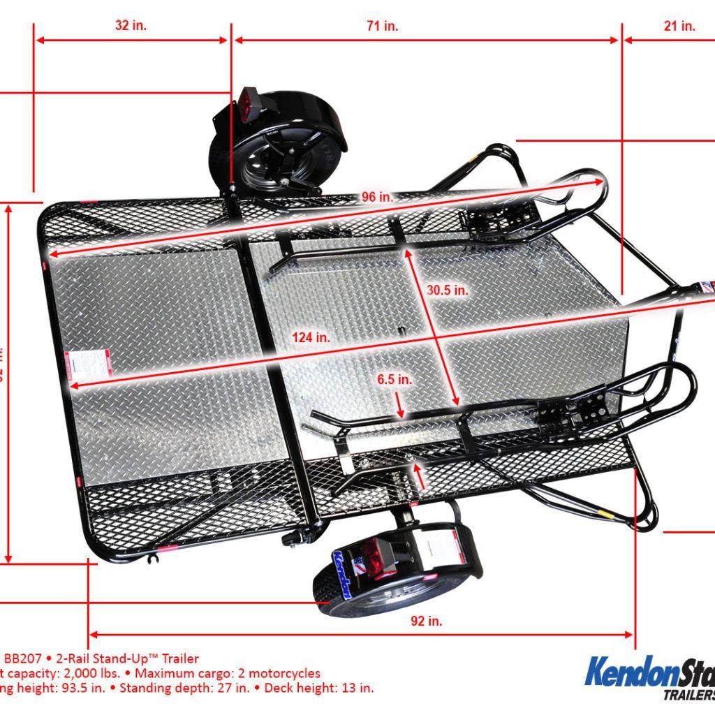 Dual StandUp™ Motorcycle Trailer & Cargo Trailer