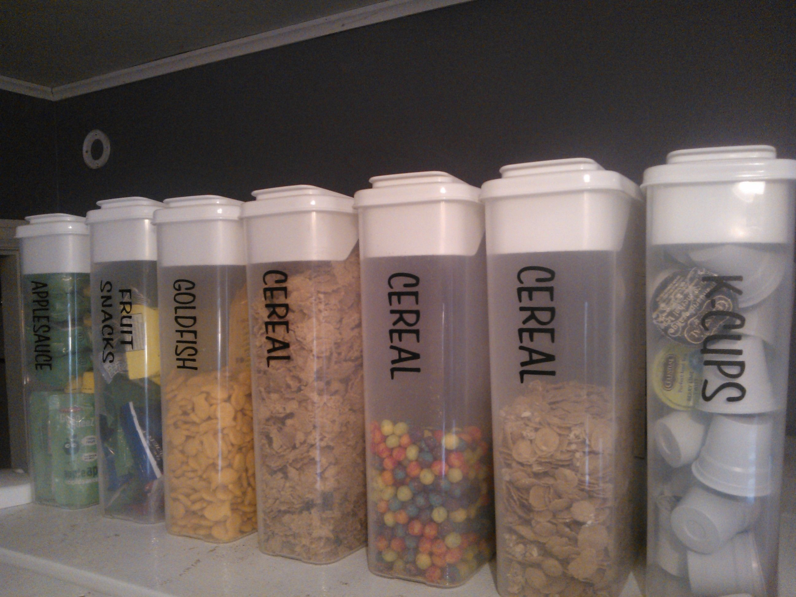 Need These Tall Thin Containers For Cereal Pasta Flour Sugar Etc Pantry Food