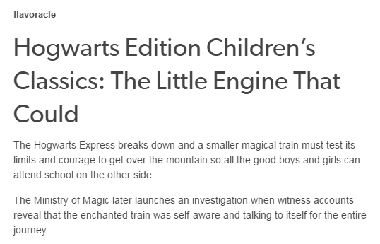 Hogwarts Edition Children's Classics: The Little Engine That Could - The Hogwarts Express breaks down and...  SO FUNNY!