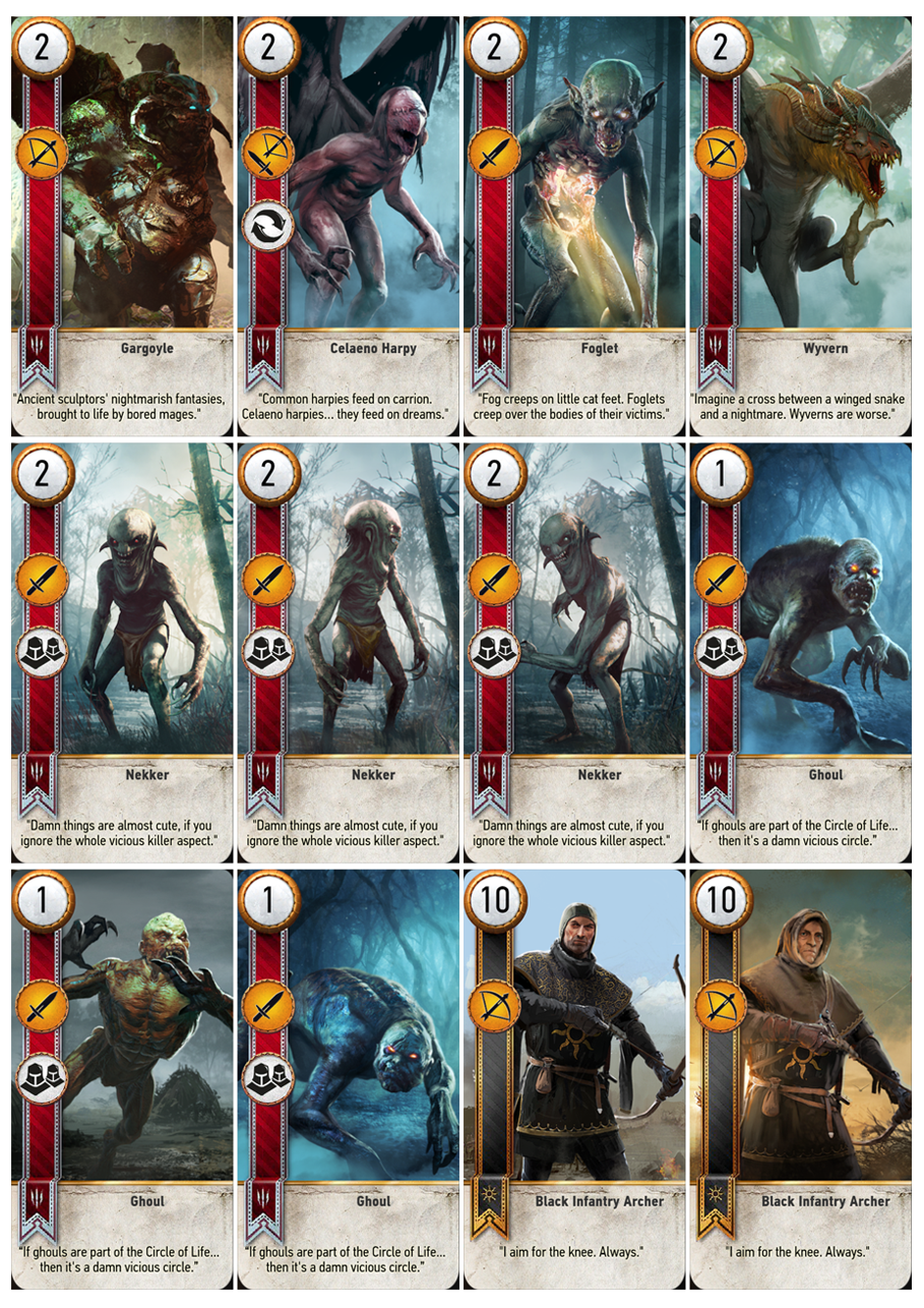 photograph relating to Printable Gwent Cards identified as Gwent Playing cards within just Printable A4 Sheets Witcher Recreation card