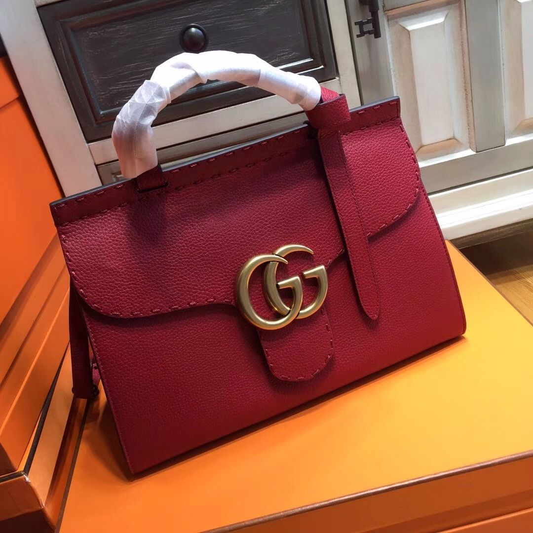 629b9541bf8ff7 GG Marmont small top handle bag Red - Bella Vita Moda #gucci #guccibag  #gucciaddict #guccilover #gucci2017 #bagforsale #baglover