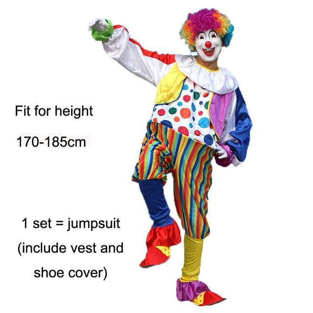 Clown Men Women Kids Shoes Cover Party Fancy Dress Fun Circus Costume Accessory