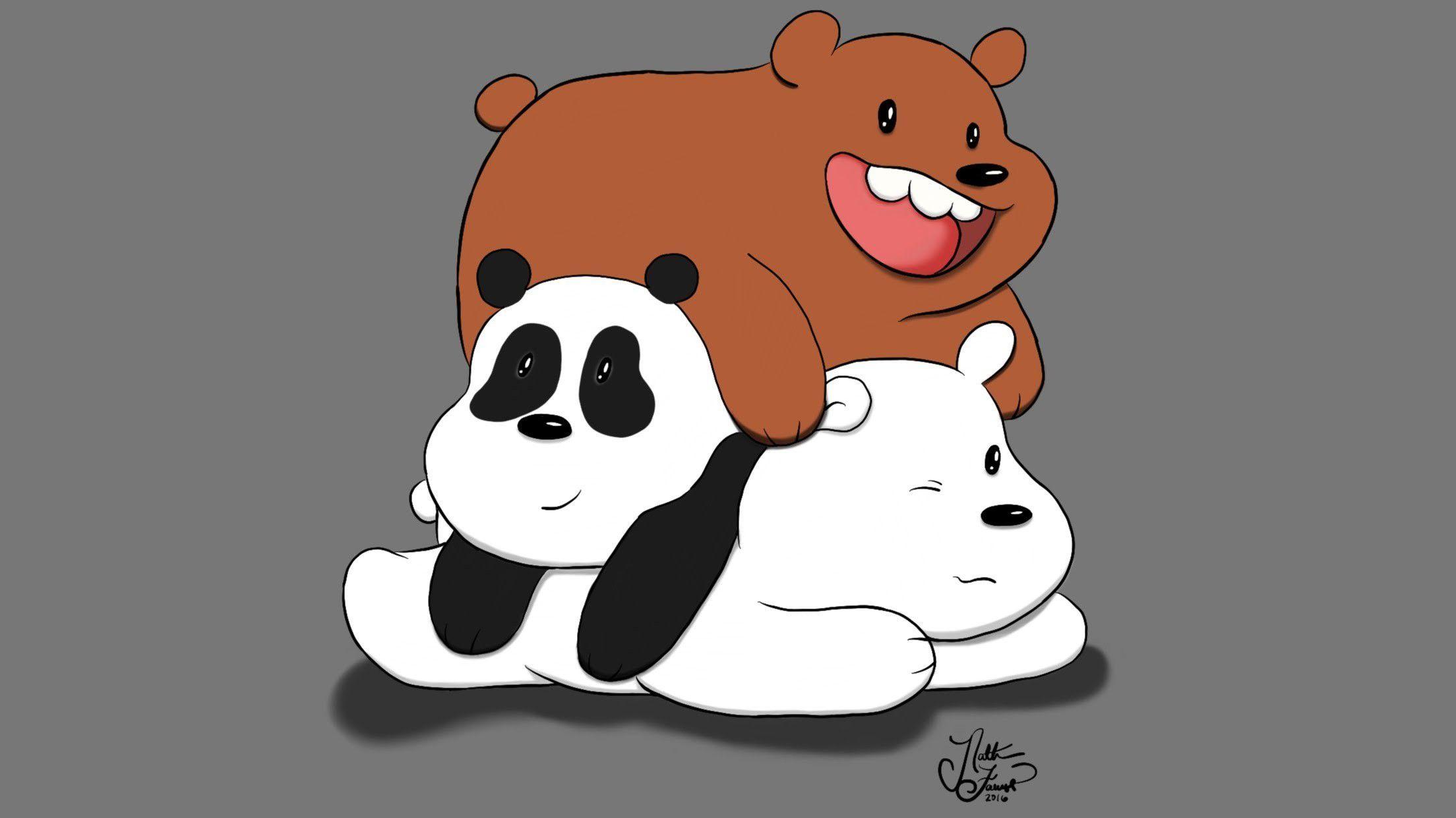 Image result for we bare bears laptop wallpaper Kartun
