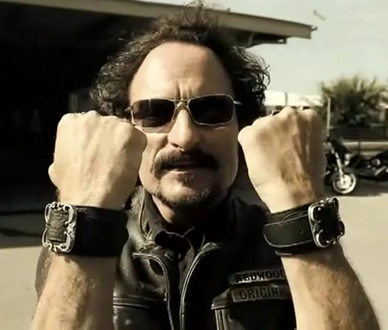 Kim Coates Tig Of Sons Of Anarchy Wearing Our Bandit Leather Cuffs By Victorious 22 Gorgeous Men Mens Sunglasses Sunglasses