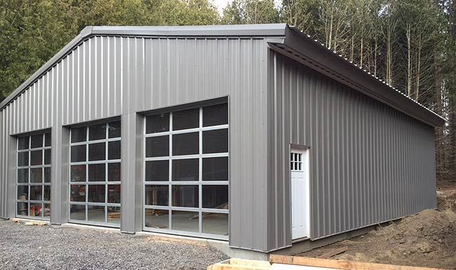 Photo of Personal Garage/Workshop in Caledon, Ontario – Olympia Steel Buildings